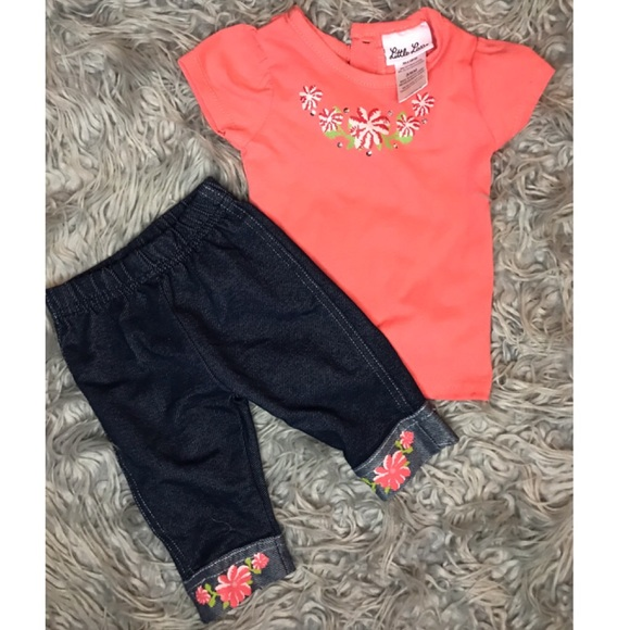 Little Lass 🎀 baby girl outfit - 3/6M